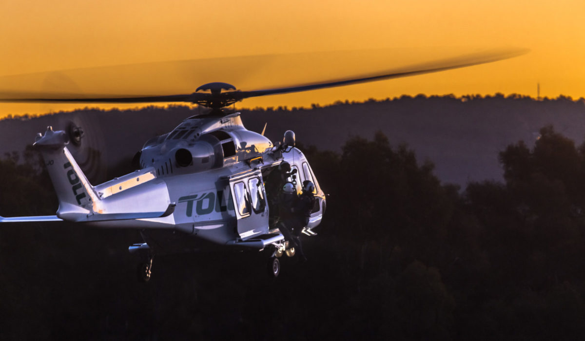 THE TOLL RESCUE HELICOPTER SERVICE IS AIRBORNE FOR COMMUNITIES OF NSW