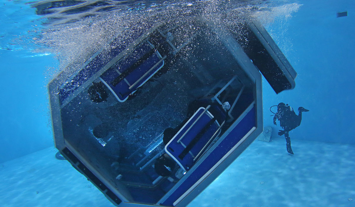 HELICOPTER UNDERWATER TRAINING FACILITY SHOWCASED